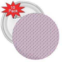 Pink Flowers Pink 3  Buttons (10 Pack)