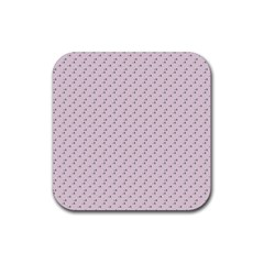 Pink Flowers Pink Rubber Square Coaster (4 Pack)  by snowwhitegirl
