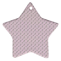 Pink Flowers Pink Star Ornament (two Sides) by snowwhitegirl