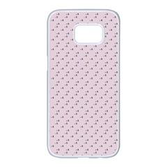 Pink Flowers Pink Samsung Galaxy S7 Edge White Seamless Case