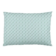 Pink Flowers Blue Pillow Case
