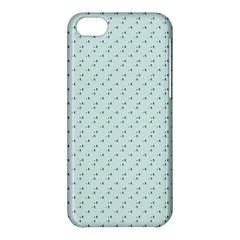 Pink Flowers Blue Apple Iphone 5c Hardshell Case by snowwhitegirl