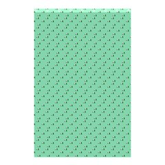 Pink Flowers Green Shower Curtain 48  X 72  (small)  by snowwhitegirl