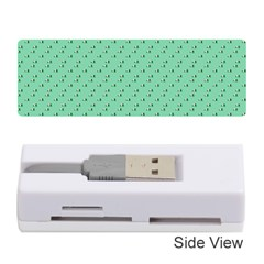 Pink Flowers Green Memory Card Reader (stick)