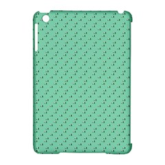 Pink Flowers Green Apple Ipad Mini Hardshell Case (compatible With Smart Cover) by snowwhitegirl