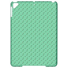 Pink Flowers Green Apple Ipad Pro 9 7   Hardshell Case