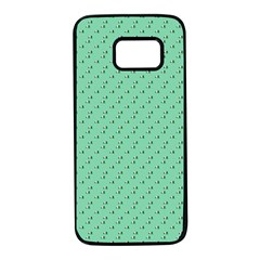 Pink Flowers Green Samsung Galaxy S7 Black Seamless Case