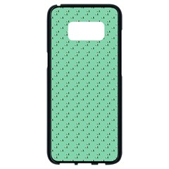 Pink Flowers Green Samsung Galaxy S8 Black Seamless Case