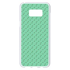Pink Flowers Green Samsung Galaxy S8 Plus White Seamless Case