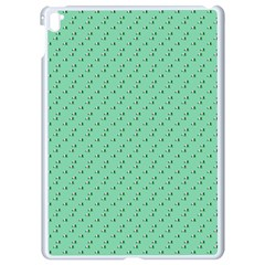 Pink Flowers Green Apple Ipad Pro 9 7   White Seamless Case