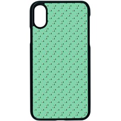 Pink Flowers Green Apple Iphone X Seamless Case (black)