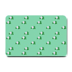 Pink Flowers Green Big Small Doormat