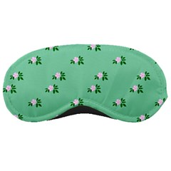 Pink Flowers Green Big Sleeping Masks