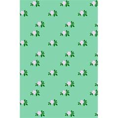 Pink Flowers Green Big 5 5  X 8 5  Notebooks