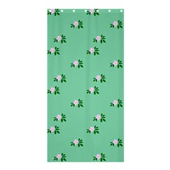 Pink Flowers Green Big Shower Curtain 36  X 72  (stall)