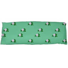 Pink Flowers Green Big Body Pillow Case Dakimakura (two Sides)