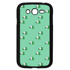 Pink Flowers Green Big Samsung Galaxy Grand Duos I9082 Case (black) by snowwhitegirl