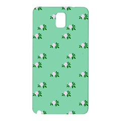 Pink Flowers Green Big Samsung Galaxy Note 3 N9005 Hardshell Back Case