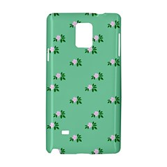 Pink Flowers Green Big Samsung Galaxy Note 4 Hardshell Case by snowwhitegirl