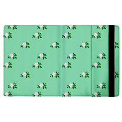 Pink Flowers Green Big Apple Ipad Pro 9 7   Flip Case
