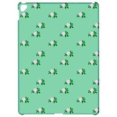 Pink Flowers Green Big Apple Ipad Pro 12 9   Hardshell Case
