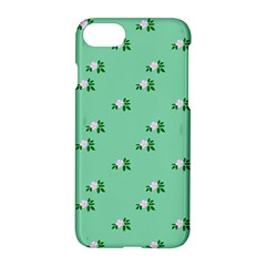 Pink Flowers Green Big Apple Iphone 7 Hardshell Case