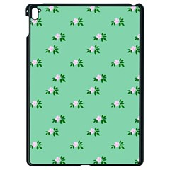 Pink Flowers Green Big Apple Ipad Pro 9 7   Black Seamless Case