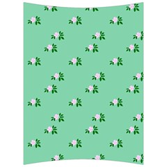 Pink Flowers Green Big Back Support Cushion