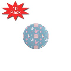 Baby Pattern 1  Mini Magnet (10 Pack)