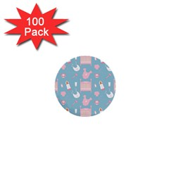 Baby Pattern 1  Mini Buttons (100 Pack)