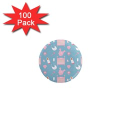 Baby Pattern 1  Mini Magnets (100 Pack)