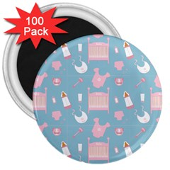 Baby Pattern 3  Magnets (100 Pack)