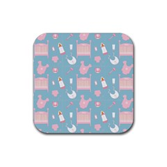 Baby Pattern Rubber Coaster (square)