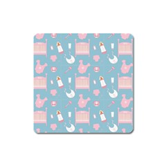 Baby Pattern Square Magnet