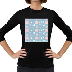 Baby Pattern Women s Long Sleeve Dark T Shirts