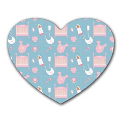 Baby Pattern Heart Mousepads