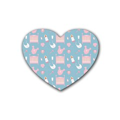 Baby Pattern Rubber Coaster (heart)