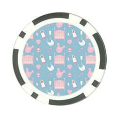 Baby Pattern Poker Chip Card Guard