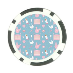 Baby Pattern Poker Chip Card Guard (10 Pack)