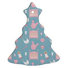Baby Pattern Christmas Tree Ornament (two Sides)