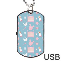 Baby Pattern Dog Tag Usb Flash (one Side)