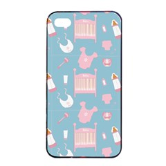 Baby Pattern Apple Iphone 4/4s Seamless Case (black)