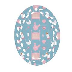 Baby Pattern Ornament (oval Filigree)