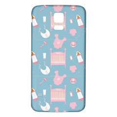 Baby Pattern Samsung Galaxy S5 Back Case (white)