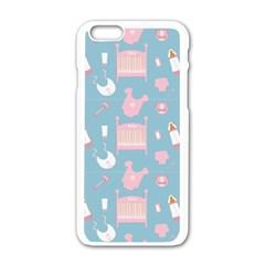 Baby Pattern Apple Iphone 6/6s White Enamel Case