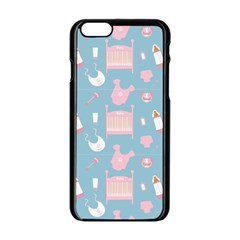 Baby Pattern Apple Iphone 6/6s Black Enamel Case by snowwhitegirl