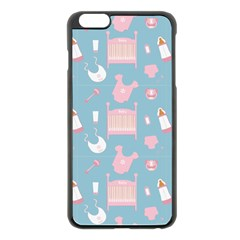 Baby Pattern Apple Iphone 6 Plus/6s Plus Black Enamel Case