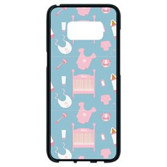 Baby Pattern Samsung Galaxy S8 Black Seamless Case