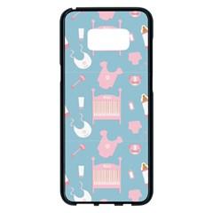 Baby Pattern Samsung Galaxy S8 Plus Black Seamless Case