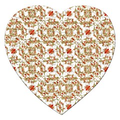 Colorful Modern Pattern Jigsaw Puzzle (heart) by dflcprints